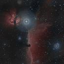 HorseHead/Flame Nebula in HSS,                    NewfieStargazer
