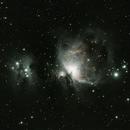 First light - autoguiding methods, scope, camera, dithering: M42 and running man,                                Ian Dixon