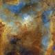 The Heart Nebula - IC1805 - Hubble Palette,                                Eric Coles (coles44)