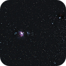 M42 (nébuleuse d'Orion) et NGC 2024 (nébuleuse de la Flamme),                                Dapiks