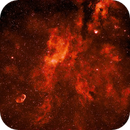 Cygnus region showing the Crescent nebula,                                John Dimond