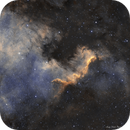 NGC 7000 Reprocessed in HOO/SHO,                                andythilo