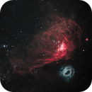 Highly contrasted NGC 2014 and NGC 2020 in the LMC,                                ChrisG_BNE