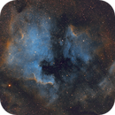 North America and Pelican nebulae (modified Hubble palette),                                meeus