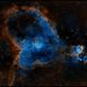 IC1805 Heart Nebula in SHO,                                rayp
