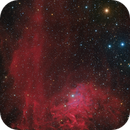 Flaming Star Nebula in Auriga - HaLRGB,                                Steve Milne