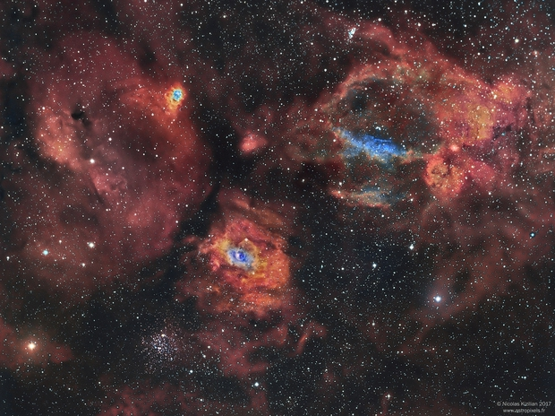 Bubble Nebula Region - Narrowband (NGC7635),                                Nicolas Kizilian