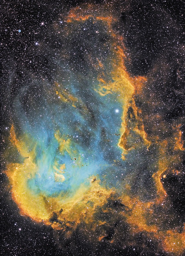 Running Chicken on Fire!  - NGC 2944 in SHO,                                robonrome