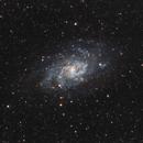 M33, la galaxie du Triangle, le 9 octobre 2015,                                Laurent3112