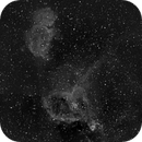 Heart and Soul Nebulae at 200 mm in Ha,                                JDJ
