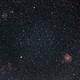 Monkey Head Nebula NGC 2174 and M35 (200mm),                                star-watcher.ch