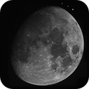 The 10 Days old Moon (Monochrome),                                astropical