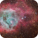 M8 - Lagoon Nebula,                                Trace