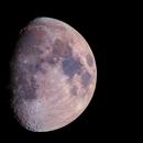 """Mond in Farbe mit """"Goldenen Henkel"""" am 22.02.2021,                                Matthias Groß"""