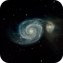Whirlpool Galaxy close-up,                                Frank Kane