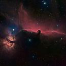 Horsehead Nebula (IC 434) and Flame Nebula (NGC 2024)  HaRGB,                                JD