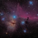 Horsehead and Flame nebulas,                                Pete Bouras