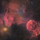 JellyFish Nebula in Ha-RGB,                                puckja