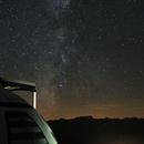 La coupole du T60 du Pic du Midi sous la Voie Lactée,                                Sagittarius_a