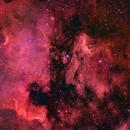 NGC 7000 & IC 5070 - The North America Nebula and Pelican Nebula in HaRGB,                                CrestwoodSky