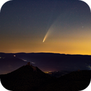 Neowise over Castle Trifels in the Palatinate Forest,                                Mogunt