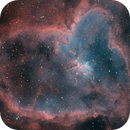 Heart Nebula in Narrowband,                                Aaron Freimark