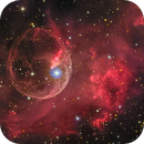 Bubble Nebula from Liverpool Telescope,                                Miles Zhou