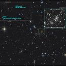 Abell 2218 Gravitational lensing and Variable star V0553,                                sky-watcher (johny)