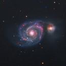 M51 The Whirlpool Galaxy in LRGBHa (NEW SETUP) FIRST LIGHT! CROPPED,                                Brian Meyerberg