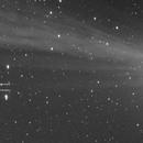 Animation montrant le déplacement des gaz derrière la comète C/2014 Q2 (Lovejoy),                                Denis Bergeron