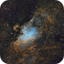 Messier 16 and the Eagle/Star Queen Nebula (Hubble Palette crop),                                Diego Cartes