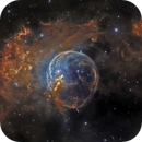 NGC 7635 - Colour (Custom Palette),                                Paddy Gilliland