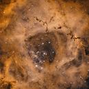 Mon Impression - The Rosette Nebula cropped [NGC 2244] in H-HO-O,                                G400