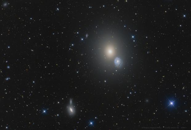 The light of the darkest hour   ---------   M60 nearby,                                WildDuck