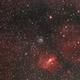 M52 and Bubble Nebula Wide Field,                                pilotlc