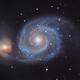 Messier 51 - The Whirlpool Galaxy [CVn],                                G400