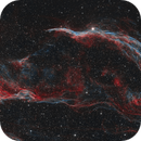 Witch's Broom and Pickering's Triangle in Cygnus - Two Panel Bicolour Mosaic,                                Steve Milne