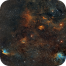 NGC 7380 Wizard-, SH2-132 Lion Nebula, etc in SHO,                                Roland Schliessus