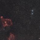 IC 1805, IC 1848, h & chi Persei  // Fl 135 mm Ha-RGB,                                Wolfgang Zimmermann