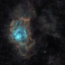 M8 & M20 - The Lagoon and Trifid Nebulae (Ha-SHO),                                Olivier Ravayrol