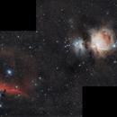 Barnard 33 - Horsehead Nebula And M42 Partial Mosaic.,                                StuartJPP
