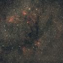 M52, Cave and Wizard nebula widefield,                                Janos Barabas
