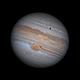 Jupiter and Europa - 2019-06-22 - 05:33 UTC,                                Jarrett Trezzo