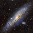 M31 - Andromeda Galaxy 4 Panel Mosaic in HaRGB,                                Will Czaja