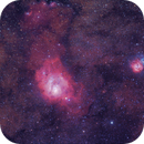 M20 and M8, the Trifid and the Lagoon,                                 degrbi