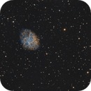 Crab Nebula, M1, in Hubble Palette (SHO),                                Joe Alexander