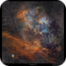 Sharpless 115 and a planetary nebula Abell 71,                                Metsavainio