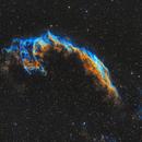 NGC 6992 - East  Veil Nebula in Hubble Palette - Deep Sky West data,                                JohnAdastra