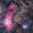 M8 M20 NGC6559,                                Jerry Huang