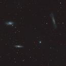 M65, M66 et NGC3628 Le trio du lion,                                benjamindenantes